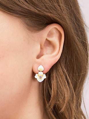 precious pansy drop earrings by kate spade new york hover view