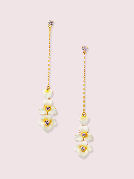 precious pansy linear earrings by kate spade new york