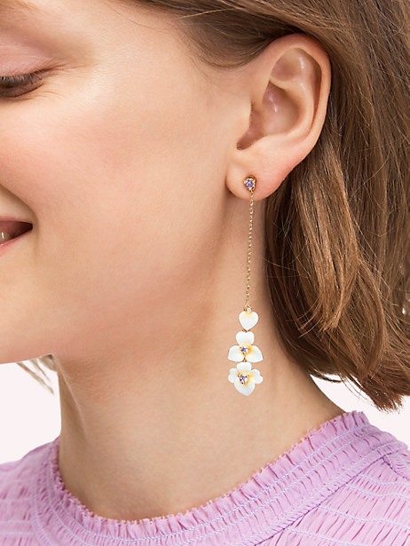 Precious pansy linear earrings | Kate Spade New York