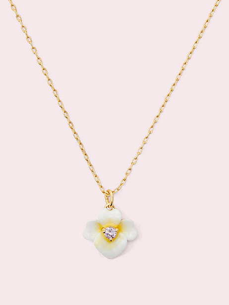 precious pansy mini pendant by kate spade new york