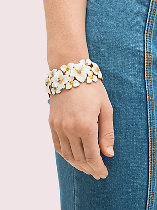 precious pansy statement bracelet by kate spade new york hover view