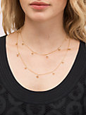 shining spade long scatter necklace, , s7productThumbnail