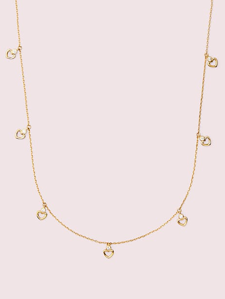 shining spade long scatter necklace by kate spade new york