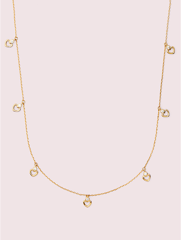 shining spade long scatter necklace, , rr_large