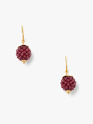 very berry drop earrings by kate spade new york non-hover view