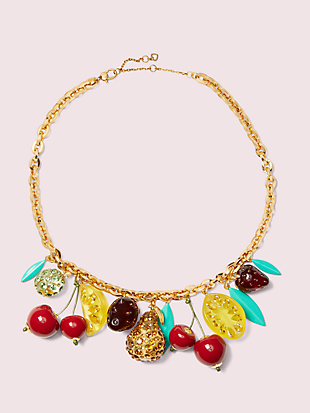 tutti fruity charm necklace by kate spade new york non-hover view