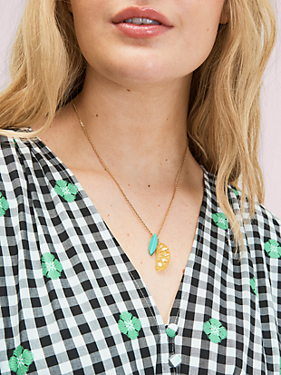 tutti fruity lemon pendant by kate spade new york hover view