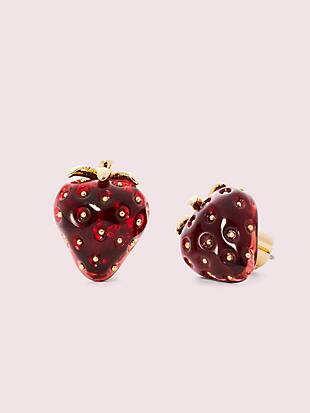 tutti fruity strawberry studs by kate spade new york non-hover view