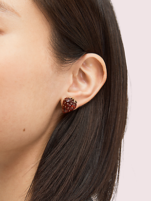 tutti fruity strawberry studs by kate spade new york hover view