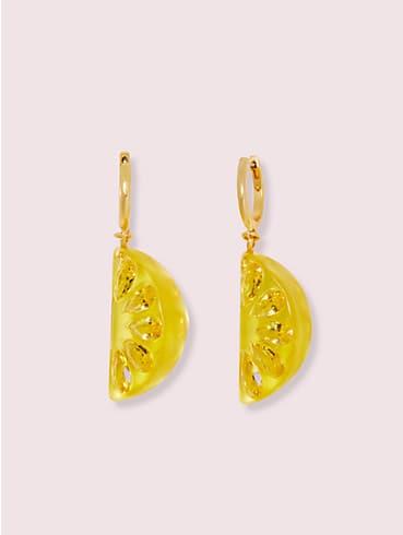 Tutti Fruity Ohrringe mit Verzierungen in Zitronenform, , rr_productgrid