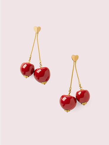 tutti fruity cherry linear earrings, , rr_productgrid
