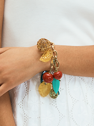tutti fruity charm bracelet by kate spade new york hover view