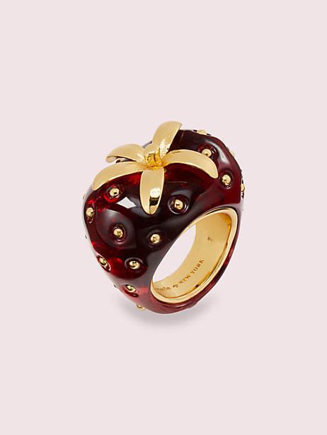 tutti fruity strawberry ring by kate spade new york