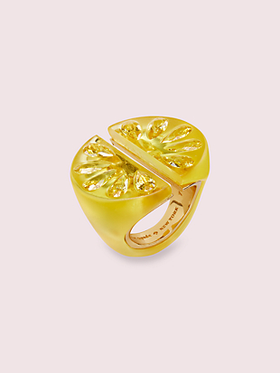 tutti fruity lemon ring by kate spade new york non-hover view