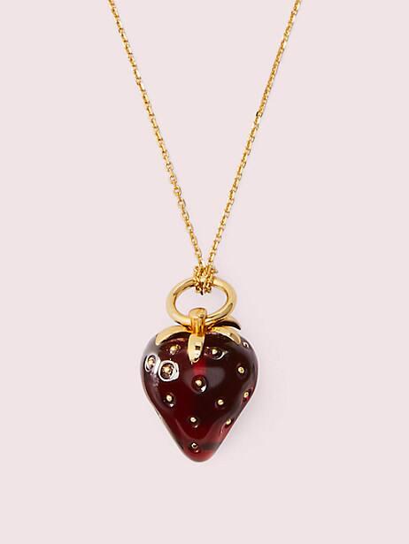 tutti fruity strawberry mini pendant by kate spade new york