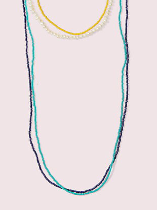 seed bead multistrand necklace by kate spade new york non-hover view