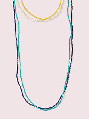 urban jungle seed bead multistrand necklace by kate spade new york non-hover view