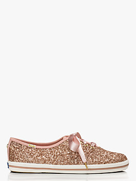 keds x kate spade new york glitter sneakers, rose gold, medium