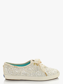 keds x kate spade new york glitter sneakers, cream, medium