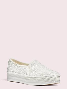 keds x kate spade new york triple decker sneakers, cream, medium
