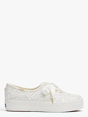 keds x kate spade new york triple glitter sneakers by kate spade new york non-hover view