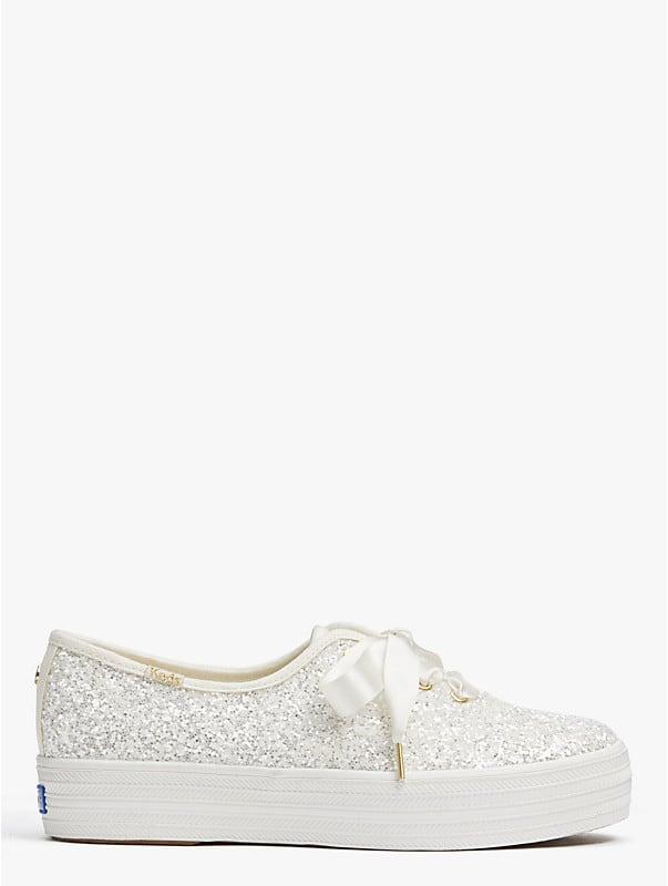 Keds X Dreifach-Glitzer-Sneaker von Kate Spade New York, , rr_large
