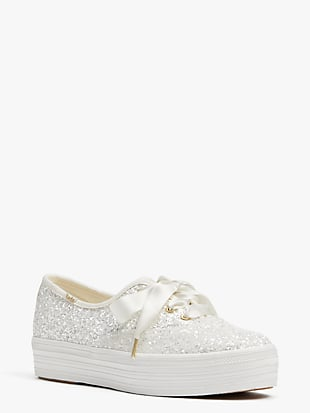 keds x kate spade new york triple glitter sneakers by kate spade new york hover view