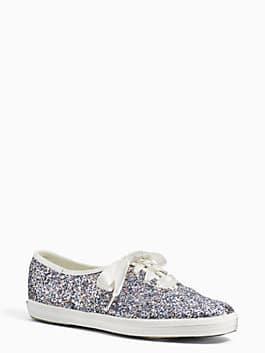 keds x kate spade new york glitter sneakers, crystal, medium