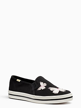 keds x kate spade new york double decker sneakers, black, medium