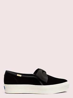 keds x kate spade new york triple decker velvet bow sneakers by kate spade new york hover view