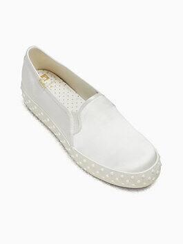 keds x kate spade new york triple decker pearl sneakers, cream, medium