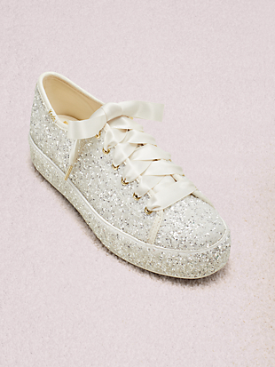 keds x kate spade new york triple kick all-over glitter sneakers by kate spade new york hover view