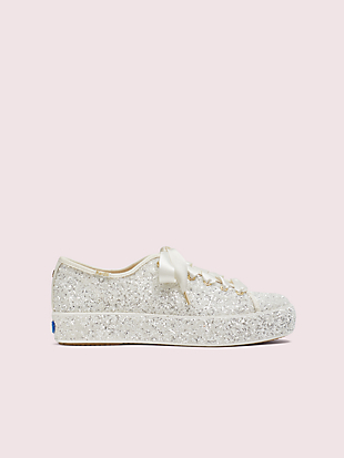 keds x kate spade new york triple kick all-over glitter sneakers by kate spade new york non-hover view