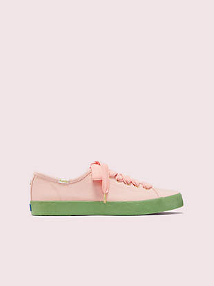 keds x kate spade new york kickstart logo foxing sneakers by kate spade new york non-hover view