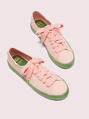 keds x kate spade new york kickstart logo foxing sneakers by kate spade new york hover view