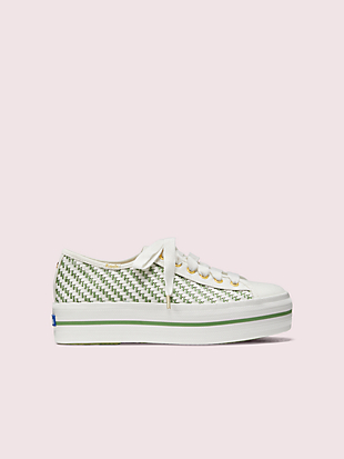 keds x kate spade new york triple up multi-woven sneakers by kate spade new york non-hover view