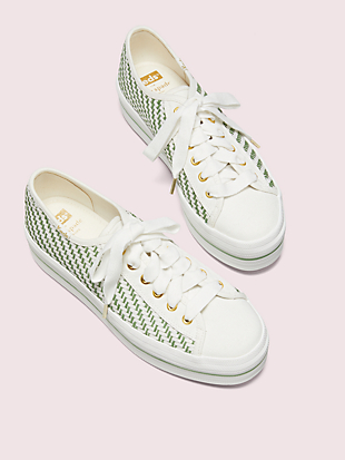 keds x kate spade new york triple up multi-woven sneakers by kate spade new york hover view