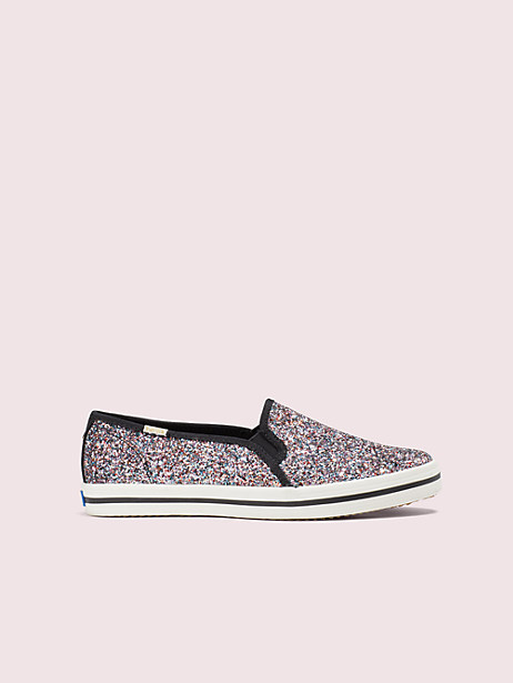 keds x kate spade new york double decker glitter sneakers, pink multi, large by kate spade new york