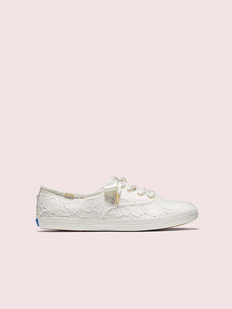 keds x kate spade new york champion lace sneakers, white, large by kate spade new york