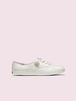 keds x kate spade new york champion lace sneakers by kate spade new york non-hover view