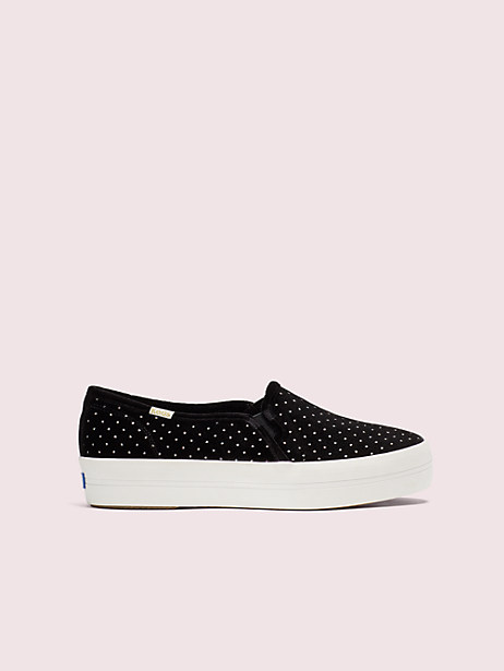 keds x kate spade new york triple decker glitter velvet sneakers by kate spade new york