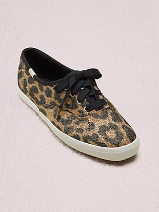 keds x kate spade new york champion glitter leopard sneakers by kate spade new york hover view
