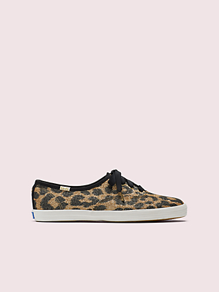 keds x kate spade new york champion glitter leopard sneakers by kate spade new york non-hover view