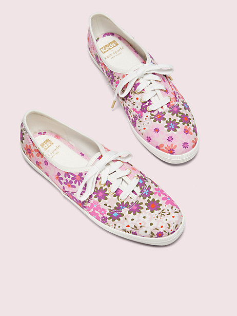keds x kate spade new york champion pacific petals sneakers, pink multi, large by kate spade new york