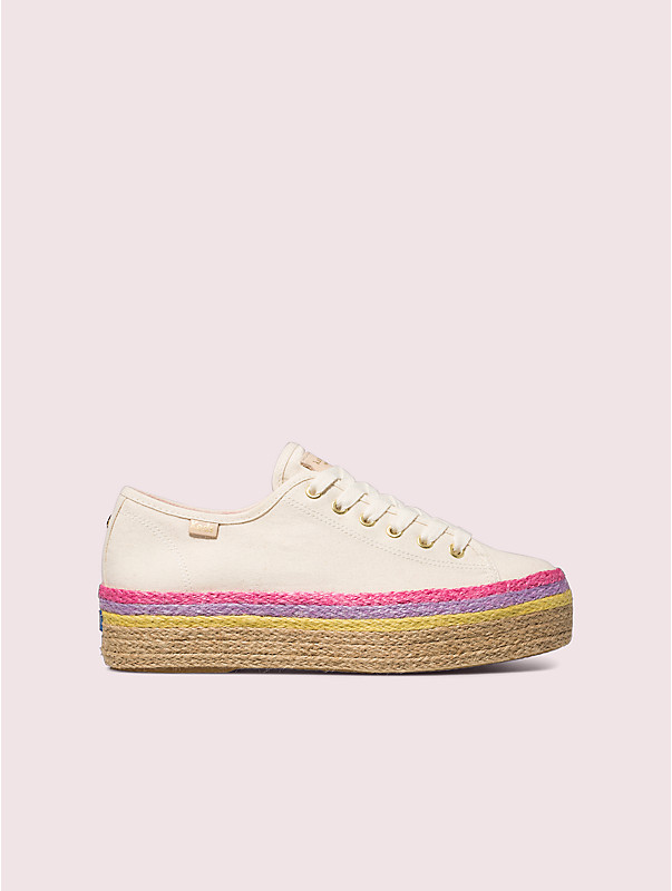 keds x kate spade new york triple up neon raffia sneakers, , rr_large