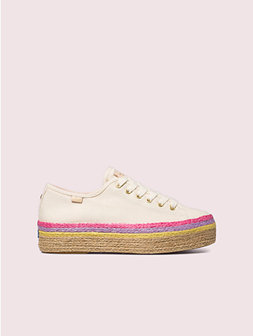 keds x kate spade new york triple up neon raffia sneakers, , rr_productgrid