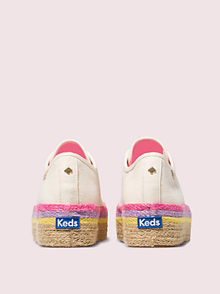 keds x kate spade new york neon raffia platform sneakers by kate spade new york hover view