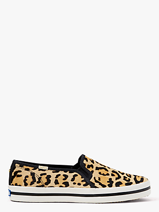 keds x kate spade new york double decker leopard-print sneakers by kate spade new york non-hover view