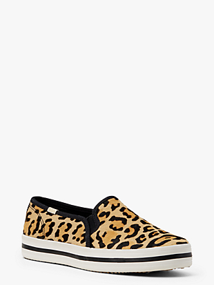 keds x kate spade new york double decker leopard-print sneakers by kate spade new york hover view