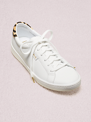 keds x kate spade new york ace leather & leopard sneakers by kate spade new york hover view